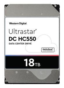 Western Digital HC550 helium-filled hard disk drive